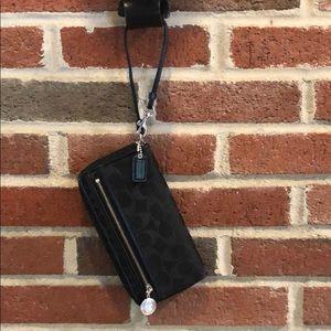 Coach Monogramed Black Wallet/Wristlet